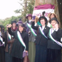 INTERNATIONAL WOMEN'S DAY - suffragettes out in force in Morpeth!